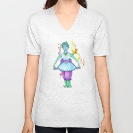 darling squidgirl Unisex V-Neck