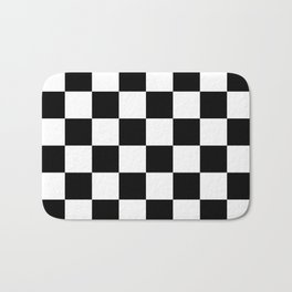 Check (Black & White Pattern) Bath Mat