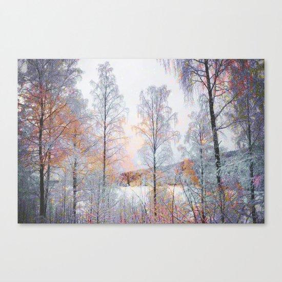 Winter in Norwegian Woods Canvas Print