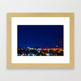 Christmas Night Lights Framed Art Print