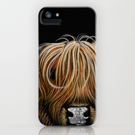 Scottish Highland Cow ' HAMISH ' by Shirley MacArthur iPhone Case