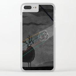 Black deer Clear iPhone Case