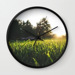 Sunset over the Blades Wall Clock