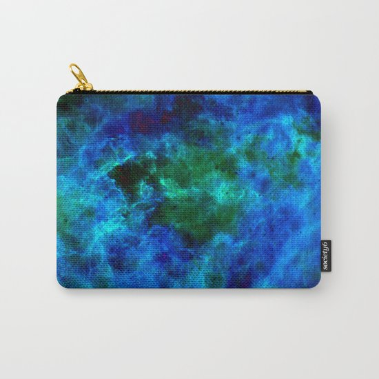 Slate Marble Clouds - Deep Sea Carry-All Pouch