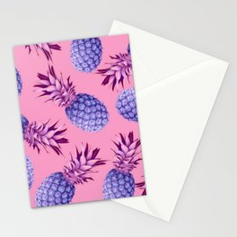 Violet pineapples Stationery Cards