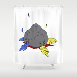 2 birds 1 stone Shower Curtain