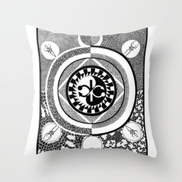 Infinity of Two Throw Pillow