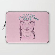 Resting sweetheart face Laptop Sleeve