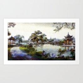 Asia Winter Art Print
