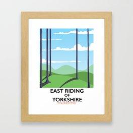 East Riding of Yorkshire Framed Art Print