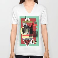 berlin V-neck T-shirts featuring Berlin. by Grant Pearce