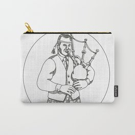 Scottish Bagpiper Doodle Art Carry-All Pouch