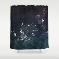 asia Shower Curtains featuring Asia UpsideDown by Marco Bagni