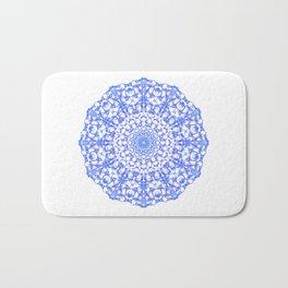 Mandala 12 / 4 eden spirit indigo blue Bath Mat