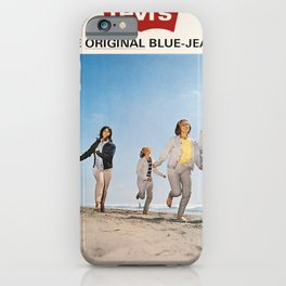 Plakat levis the original blue jeans since iPhone Case