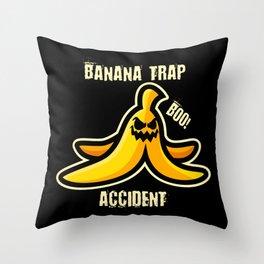 Banana Slapstick Throw Pillow