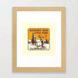 Hickory Run Camping Buck Deer PA Park Framed Art Print