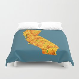 California in Flowers Duvet Cover