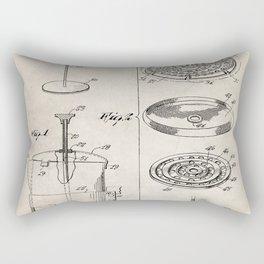 Coffee Filter Patent - Coffee Shop Art - Antique Rectangular Pillow