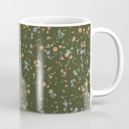 Green Peach + Blue Splatter Print Coffee Mug