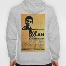 Vintage 1964 Bob Dylan at Wilson High School Poster Hoody