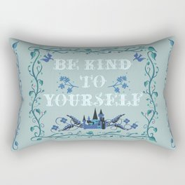 Be Kind To Yourself Fairytale Sign Rectangular Pillow