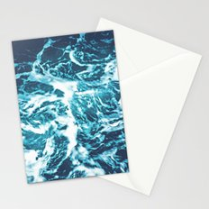 Tropical Turquoise Waves Stationery Cards
