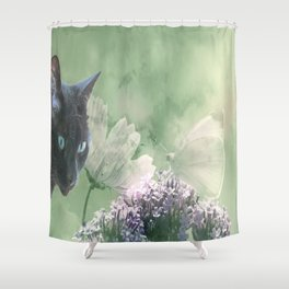 Eye contact ;0) Shower Curtain