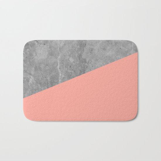 Coral Pink Concrete Bath Mat