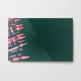 crayons, pinks & purples Metal Print