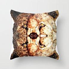 Two-Headed Bear Throw Pillow