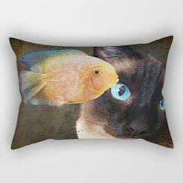 Wishful Thinking 2 - Siamese Cat Art - Sharon Cummings Rectangular Pillow