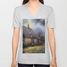Moonlight Cottage Unisex V-Neck