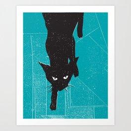 Black Kat Art Print