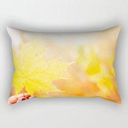Orange Beauty Rectangular Pillow
