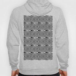 Optical pattern 85 black and white Hoody