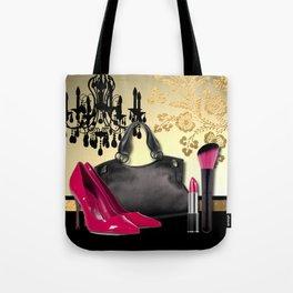 Chandelier Handbag Pumps Cosmetics Fashion Collage Tote Bag
