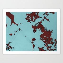 2020 Fall/Winter 08 Aquamarine Art Print