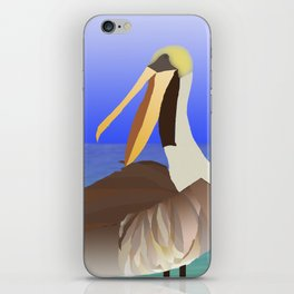 Brown Pelican iPhone Skin