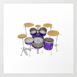 Purple Drum Kit Art Print