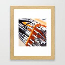 Hoses of hydraulic machine Framed Art Print