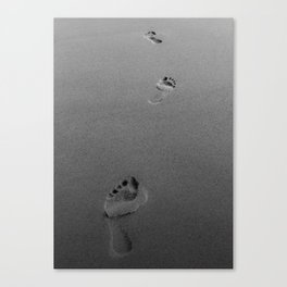 Step By Step - BW photo Canvas Print
