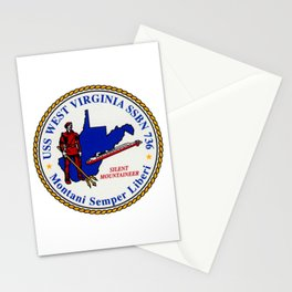 USS WEST VIRGINIA (SSBN-736) PATCH Stationery Cards