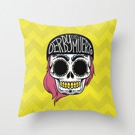 Derby De Muerto Throw Pillow