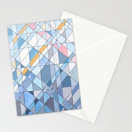 Triangle Pattern no.17 Light Blues Stationery Cards