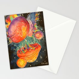 Moon Jellies Stationery Cards