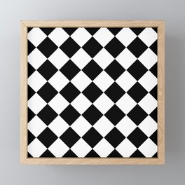 Diamond Black & White Framed Mini Art Print