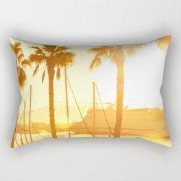 The Marina At Sunset - Landscape Photography Rectangular Pillow