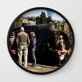 The Train Now Standing Wall Clock