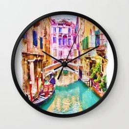 Venice Canal 2 Wall Clock